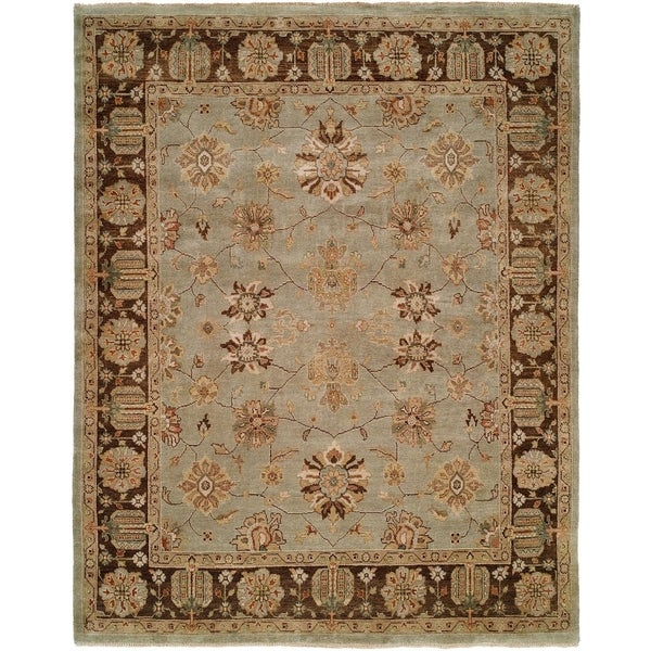 Oushak Red Wool Handmade Area Rug (8' x 8')