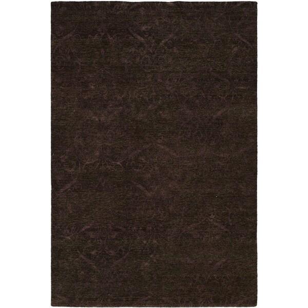 Royal Manner Derbyshire Twilight/Lavender Wool Handmade Formal Area Rug (6' x 6')
