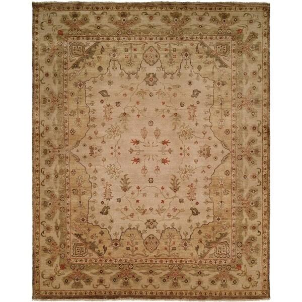 Oushak Earthy Tones Brown Wool Handmade Square Area Rug