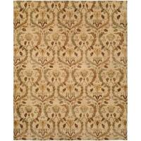 Royal Manner Derbyshire Warm Sand Handmade Wool Area Rug