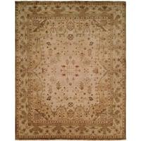 Oushak Earth Tones Wool Handmade Area Rug - 2'6 x 8'