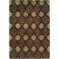 Royal Manner Derbyshire Brown Hand-Knotted Area Rug (8' Square) - 8' Square