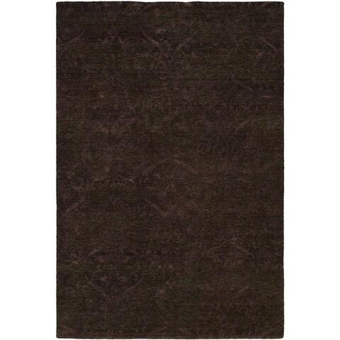 Royal Manner Derbyshire Twilight / Lavender Hand-Knotted Area Rug (8' Square) - 8' Square