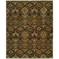 Caspian Brown Wool Handmade Soumak Runner Rug