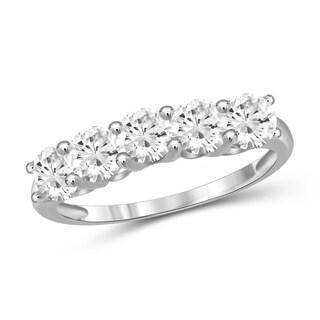 Diamonice 1.20 Carat Cubic Zirconia (AAA) Sterling Silver Five Stone Ring