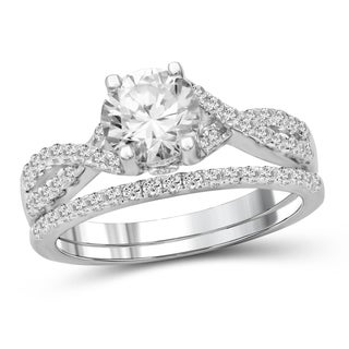Diamonice 2.00 Carat Cubic Zirconia (AAA) Sterling Silver Bridals Ring