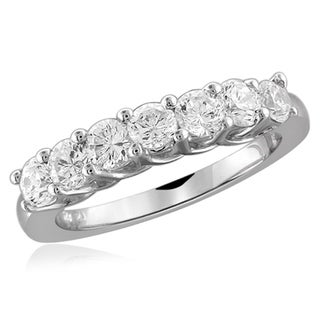 Diamonice 1.15 Carat Cubic Zirconia (AAA) Sterling Silver 7-stone Ring