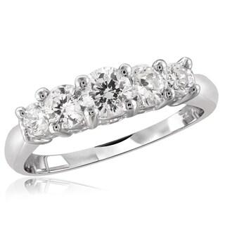 Diamonice 0.75 Carat Cubic Zirconia (AAA) Sterling Silver Five Stone Ring