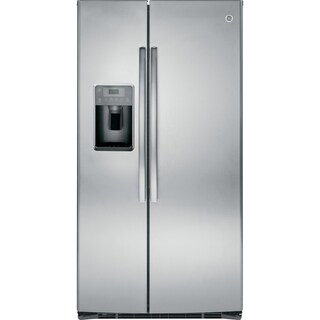 GE ENERGY STAR 25.3 Cu. Ft. Side-By-Side Refrigerator in stainless steel