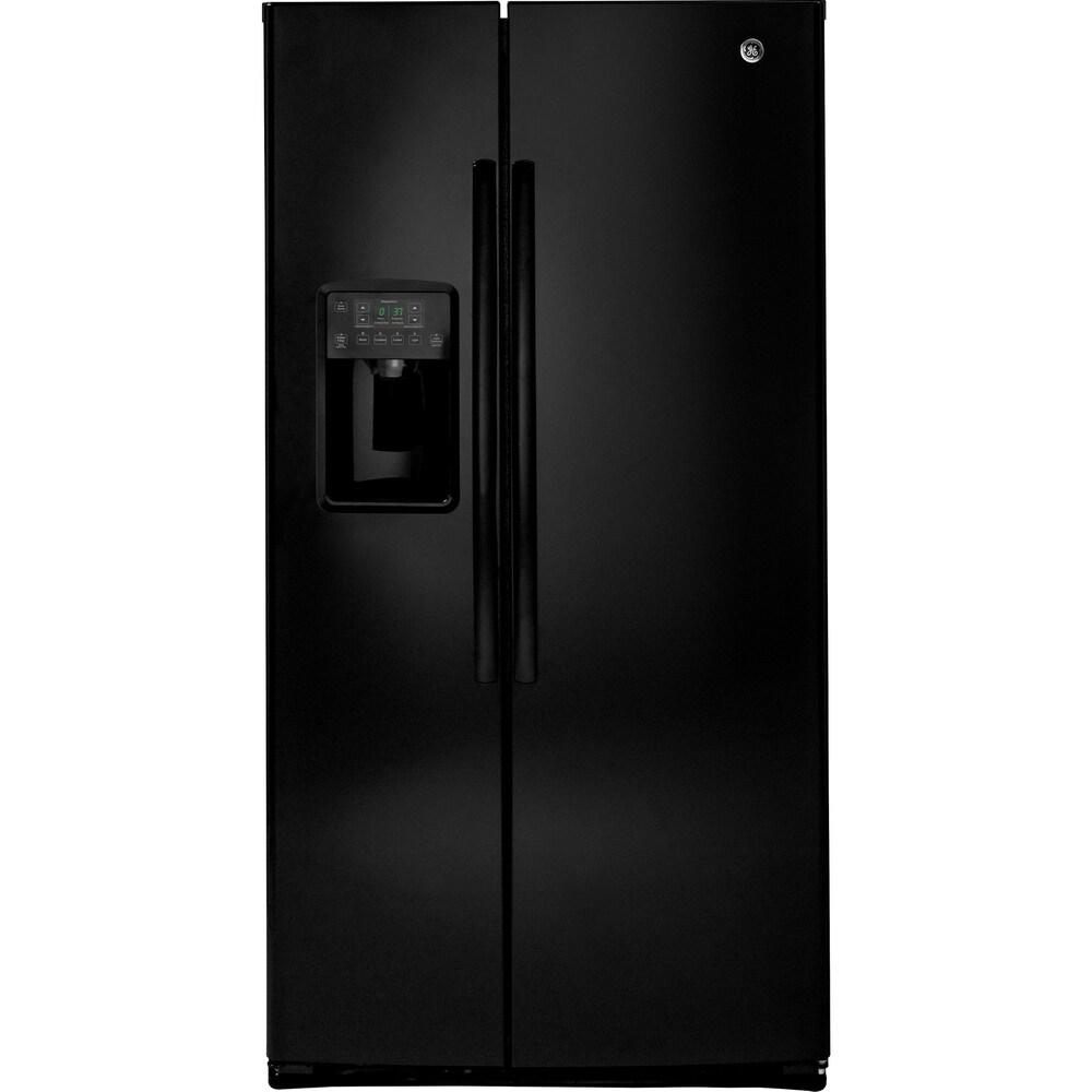 GE  ENERGY STAR 25.3 Cu. Ft. Side-By-Side Refrirator in black (Black - 7.1 - 10 cu. ft. - 2)