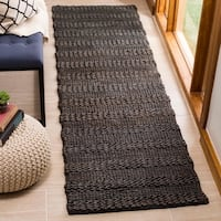 Safavieh Hand-Woven Natural Fiber Contemporary Charcoal Jute Rug - 2'3' x 8'