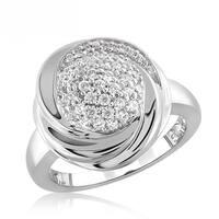 Diamonice 0.55 Carat Cubic Zirconia (AAA) Sterling Silver Fashion Ring