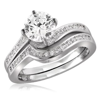 Diamonice 1.50 Carat Cubic Zirconia (AAA) Sterling Silver Ring