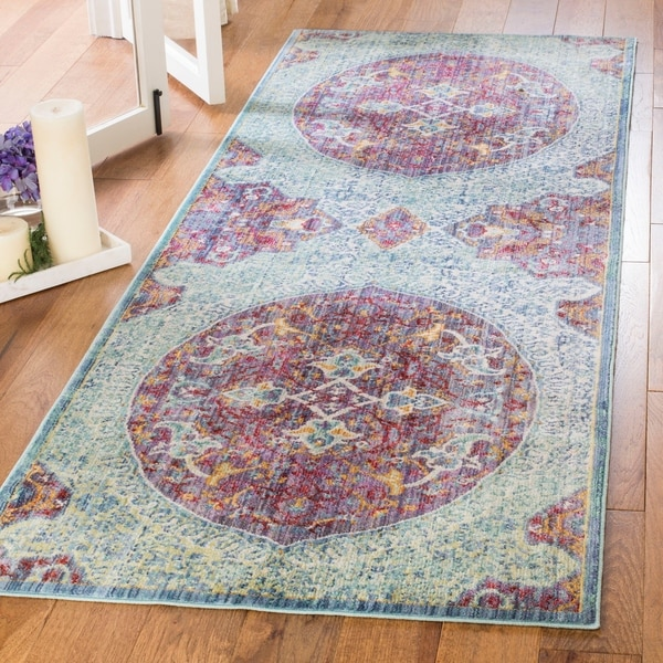Purple Turquoise Rag Rug: Shop Safavieh Sutton Boho Medallion Purple/ Turquoise