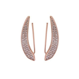 Eternally Haute 14k Rose Gold Plated Pave Blade Ear Climber