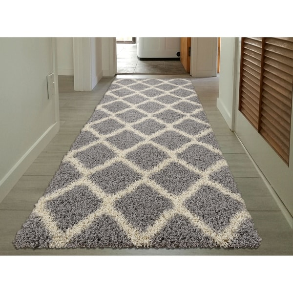 Shop Sweethome Stores Cozy Moroccan Trellis Shag Runner