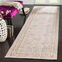 Safavieh Windsor Bohemian Light Grey / Brown Cotton Rug - 3' x 10'