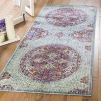 Safavieh Sutton Traditional Purple / Turquoise Polyester Rug (3' x 12')