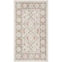 Safavieh Windsor Bohemian Ivory / Brown Cotton Rug (3' x 12') - 3' x 12'