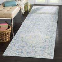 Safavieh Windsor Bohemian Blue / Lime Cotton Rug (3' x 12') - 3' x 12'