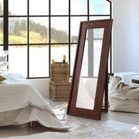 Furniture of America Larsen Rustic Vintage Walnut Full Length Mirror