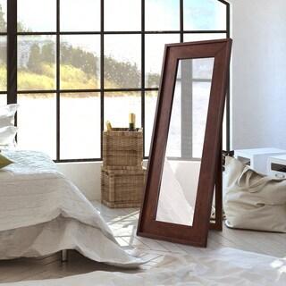 Furniture of America Larsen Rustic Vintage Walnut Full Length Mirror