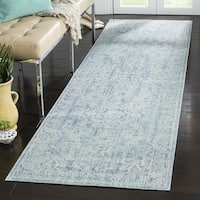 Safavieh Windsor Bohemian Seafoam / Blue Cotton Rug (3' x 12') - 3' x 12'