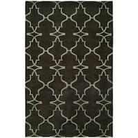 Portfolio Storm Grey Wool Handmade Area Rug - 10' x 14'