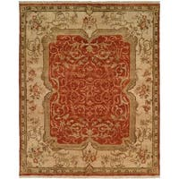 Tuscany Rust/Ivory Hand-Knotted Area Rug (11' x 16') - 11' x 16'