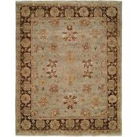 Oushak Red/Red Hand-Knotted Area Rug (11' x 16') - 11' x 16'
