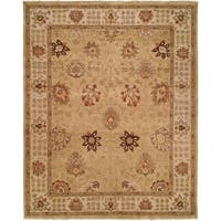 Oushak Gold/Ivory Hand-Knotted Area Rug (11' x 16') - 11' x 16'