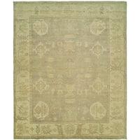 Karaman Slate/Ivory Wool Handmade Runner Rug