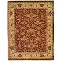 Soumak Brown/Ivory Wool Handmade Area Rug