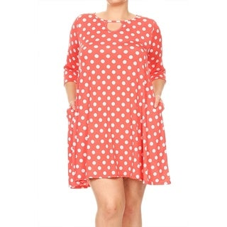 Women's Plus Size Polka Dot Pattern Dress (More options available)