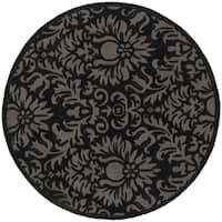 Safavieh Hand-Hooked Total Performance Traditional Black Rug - 8' x 8' Round