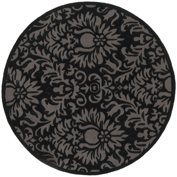 Safavieh Hand-Hooked Total Performance Traditional Black Rug (8' x 8' Round)
