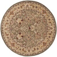Safavieh Hand-Hooked Total Performance Traditional Sage / Beige Rug (8' x 8' Round) - 8' x 8' Round