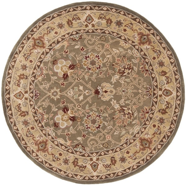 Safavieh Hand-Hooked Total Performance Traditional Sage / Beige Rug (8' x 8' Round)
