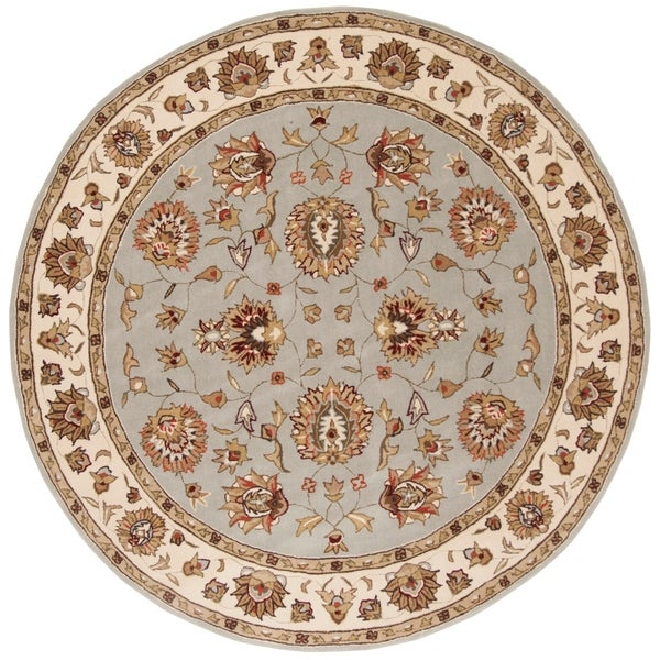 Safavieh Hand-Hooked Total Performance Traditional Light Blue / Ivory Rug - 8' Round