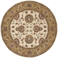 Safavieh Hand-Hooked Total Performance Traditional Ivory / Beige Rug - 8' x 8' Round
