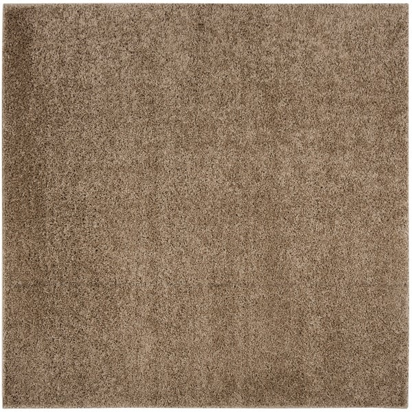 "Safavieh New York Shag Dark Beig Rug (6'7' x 6'7' Square) - 6'-7"" x 6'-7"" square"