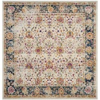 Safavieh Madison Vintage Cream / Navy Rug (6'7' x 6'7' Square)