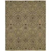 Soumak Natural/ Wheat Handmade Wool Area Rug (6' x 9')