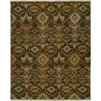 Caspian Soumak Handmade Wool Area Rug - 5' x 7'