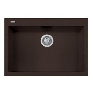 "LaToscana Plados 30"" x 20"" Single Basin Granite Drop-In Sink"