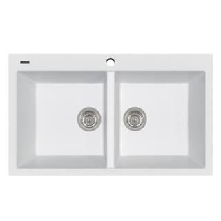 "Link to Handmade Double Basin Granite Drop-In Sink - 34"" x 20"" Similar Items in Sinks"