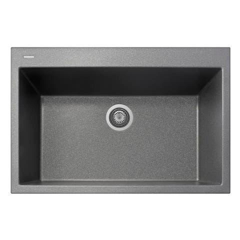 "Handmade Single Basin Granite Drop-In Sink - 33"" x 22"""