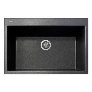"LaToscana Plados 33"" x 22"" Single Basin Granite Drop-In Sink"