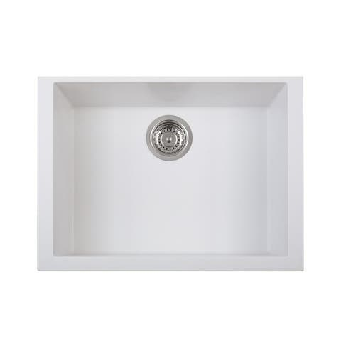 "LaToscana Plados 23"" x 18"" Single Basin Granite Undermount Sink"
