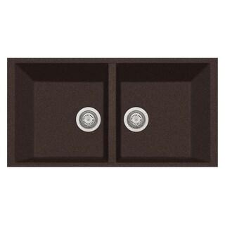 "LaToscana Plados 34"" x 18"" Double Basin Granite Undermount Sink"